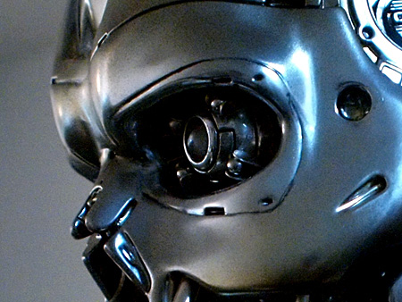 Eye on the Animatronic Bust Ver. 1.1. Does not look red when shut down.