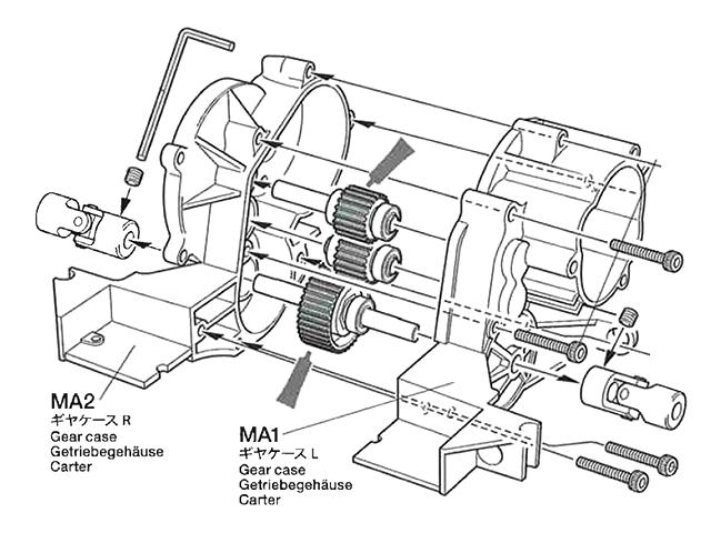 TAMIYA ワーゲンオフローダー ギヤボックス 説明書