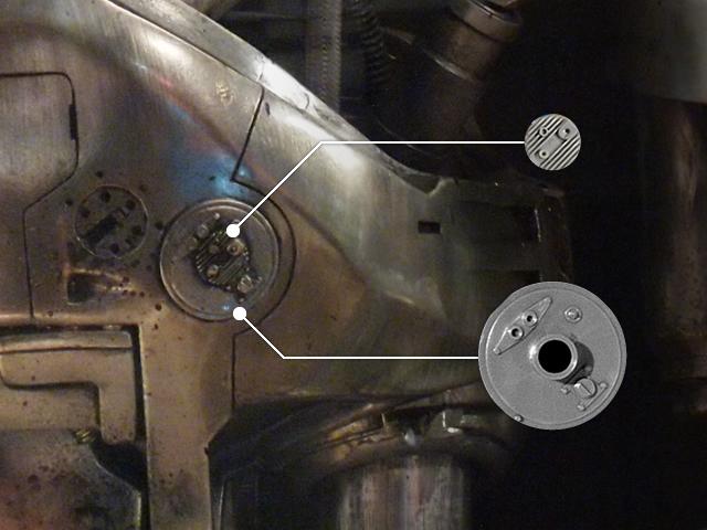 HASEGAWA ルローヌエンジンのパーツは等身大のエンドスケルトンにも使用されています。