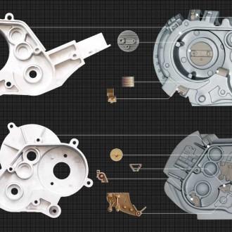 日本製のプラモデルのパーツを使用したターミネーターの側頭部メカニズム
