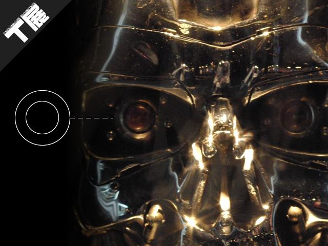 T展にて展示されたターミネーター2のプロップ(エンドスカル