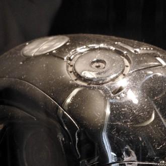 T展にて展示されたターミネーター2のプロップ(エンドスカル)