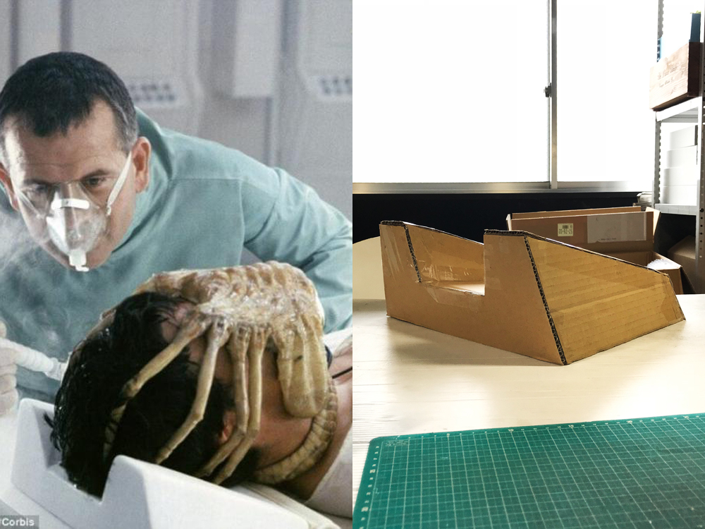 Alien facehugger pillow